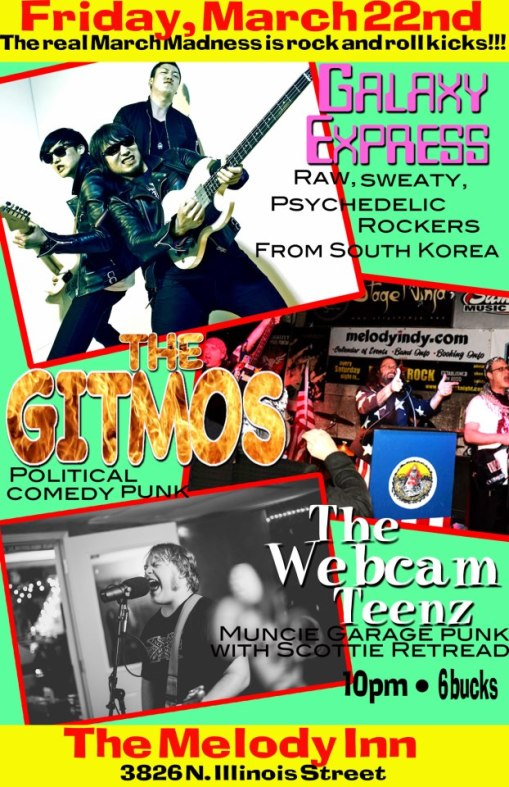 The Gitmos Live on March 22nd!